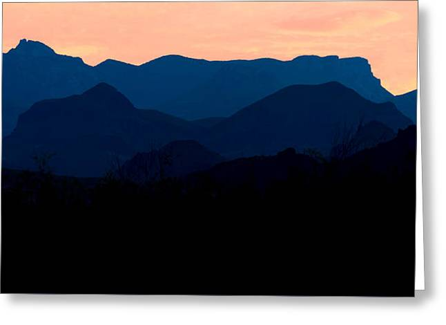Big Bend Orange Blue Layers Greeting Card