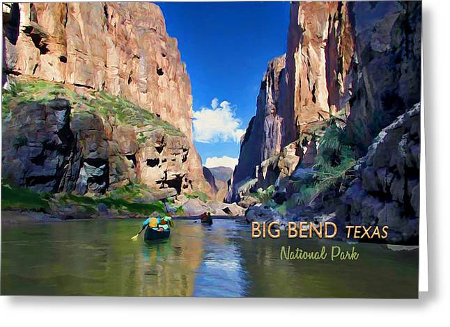 Big Bend Texas National Park Mariscal Canyon Text Big Bend Texas Greeting Card