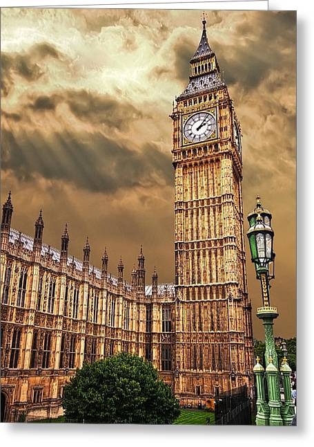 Big Ben's House Greeting Card by Meirion Matthias