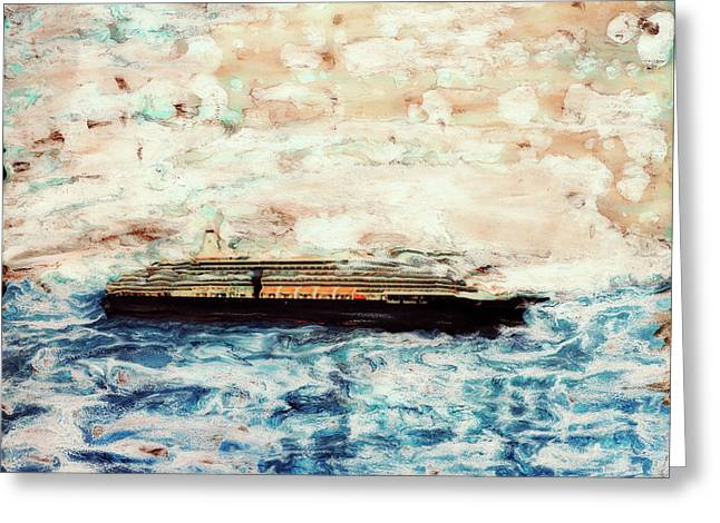 Big Black Ship Greeting Card by Paul Tokarski