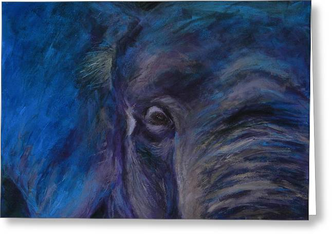 Elephant Pastels Greeting Cards - Big blue Elephant Greeting Card by Joyce A Guariglia