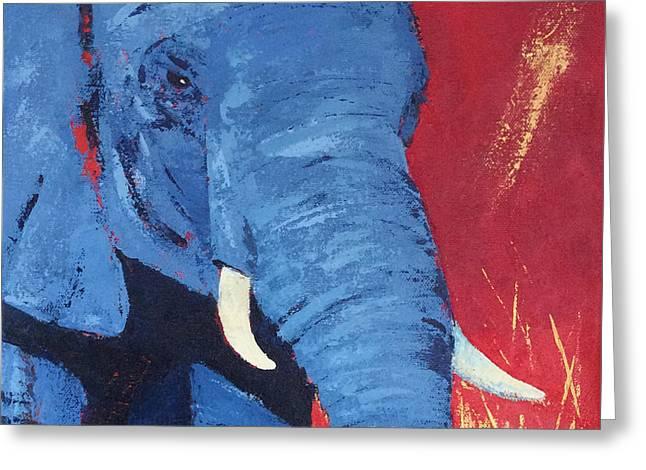 Big Blue Greeting Card by Karen Macek