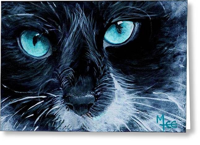 Big Blue Greeting Card by Mary-Lee Sanders