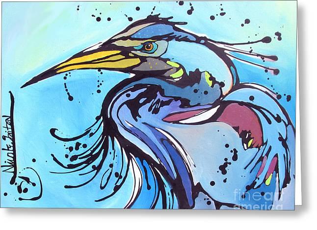 Big Blue Greeting Card by Nicole Gaitan