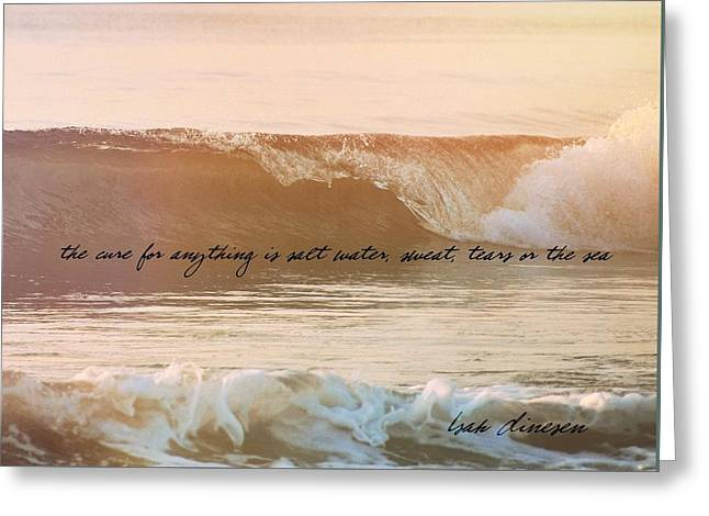 Big Blue Ocean Quote Greeting Card by JAMART Photography