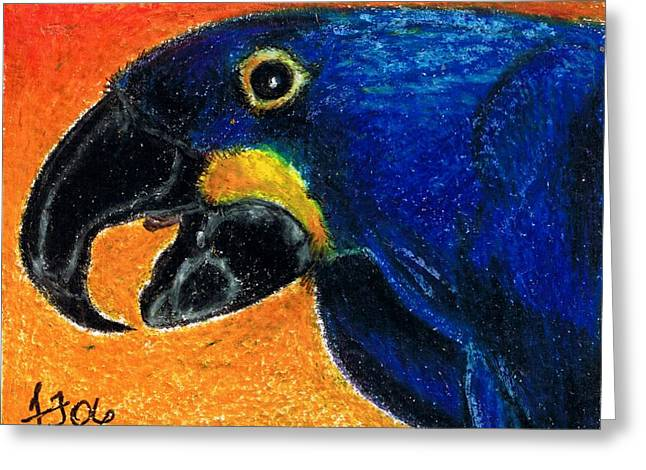 Big Blue Greeting Card by Terri Kilpatrick