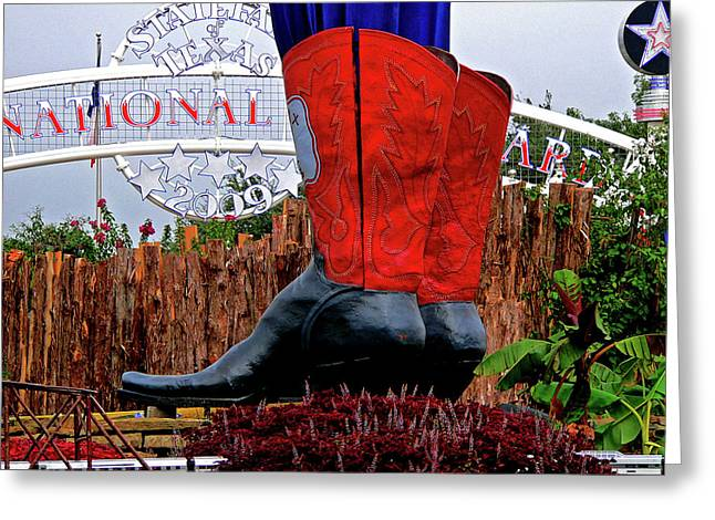 Big Boots Greeting Card by Angela Wright