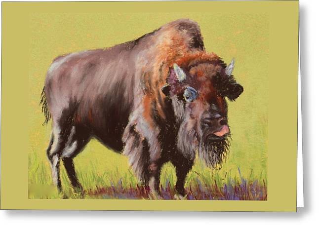 Greeting Card featuring the painting Big Boy by Nancy Jolley