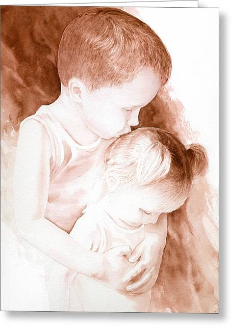 Big Brothers Hug Greeting Card