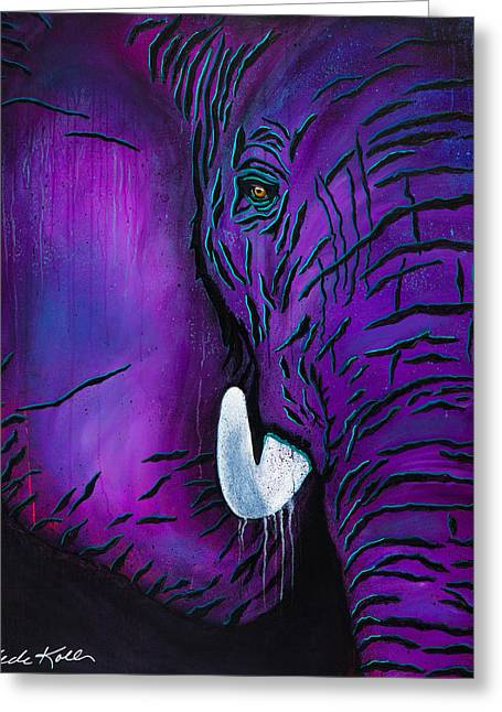 Greeting Card featuring the painting Big Bull by Dede Koll