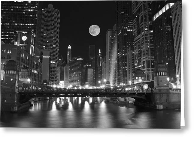 Big City Windy City Greeting Card by Frozen in Time Fine Art Photography