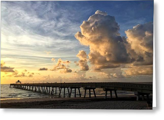 Big Cloud And The Pier, Greeting Card