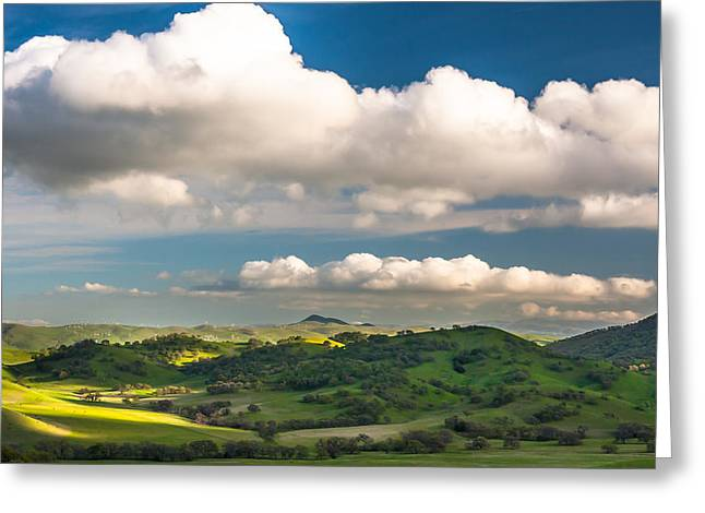 Big Clouds Over The Round Valley Greeting Card