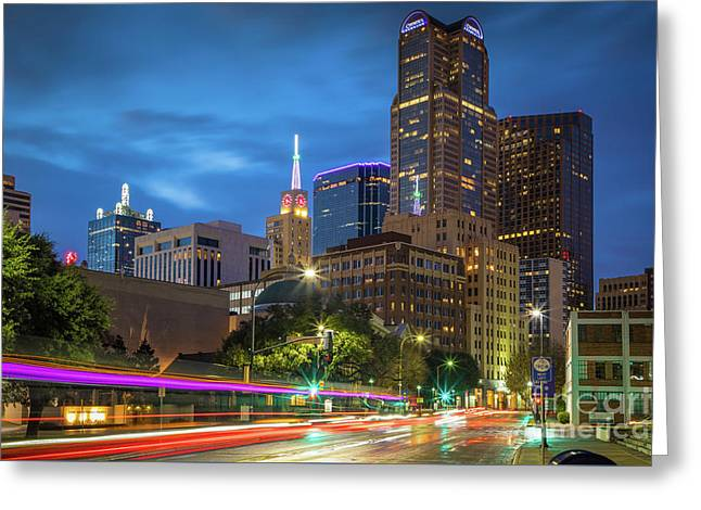 Big D Lights Greeting Card by Inge Johnsson