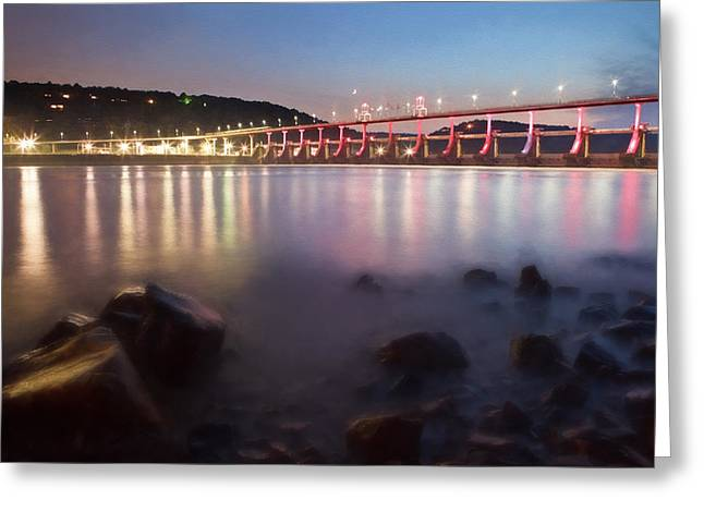 Big Dam Bridge Greeting Card