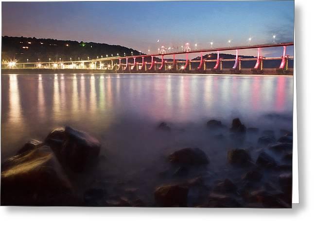 Big Dam Bridge Greeting Card