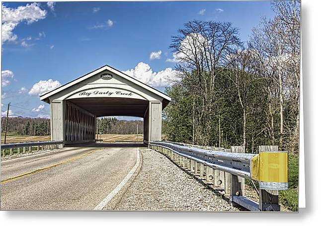 Big Darby Covered Bridge Greeting Card by William Sturgell