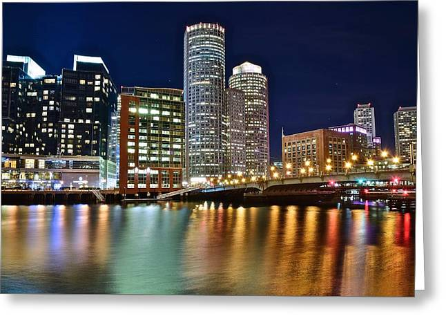 Big Dipper Over Boston Greeting Card by Frozen in Time Fine Art Photography