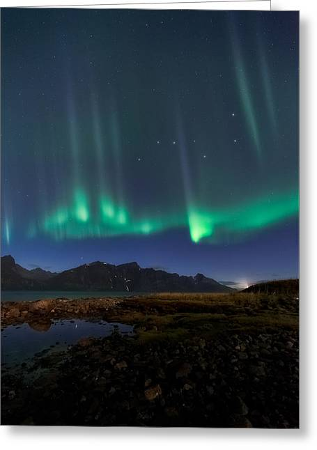Big Dipper Greeting Card by Tor-Ivar Naess