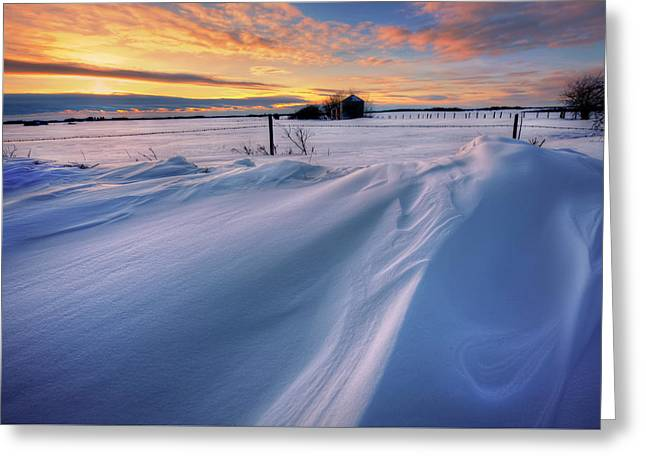 Big Drifts Greeting Card by Dan Jurak