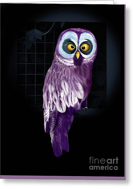Big Eyed Owl Greeting Card