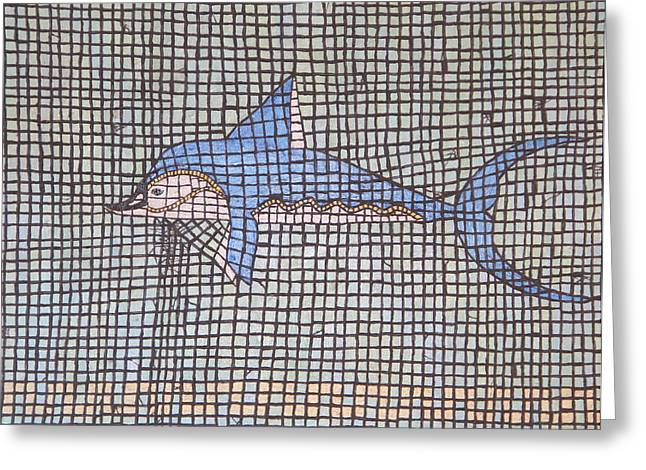 Big Fin Greeting Card by Tracy Fetter