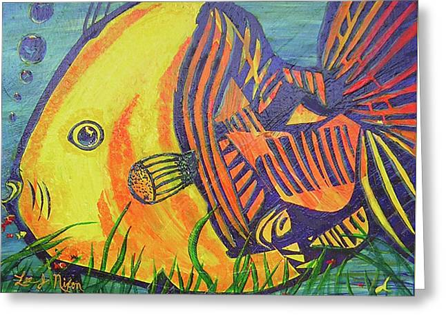 Big Fish In A Small Pond Greeting Card by Lee Nixon