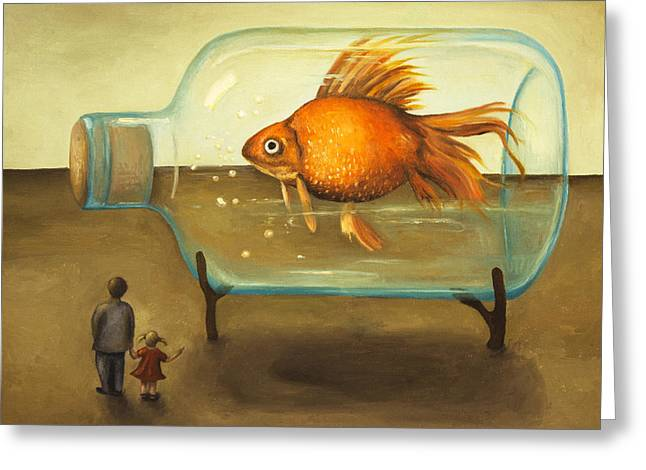 Big Fish Greeting Card by Leah Saulnier The Painting Maniac