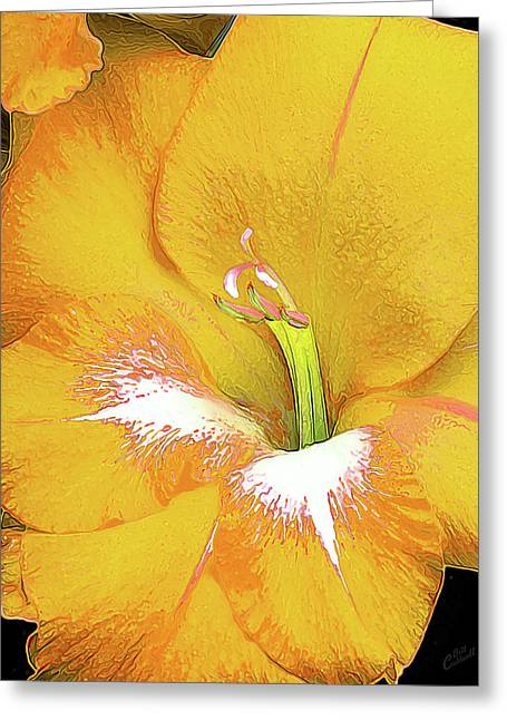 Big Glad In Yellow Greeting Card