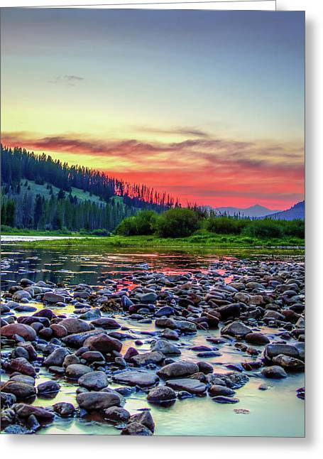 Big Hole River Sunset Greeting Card