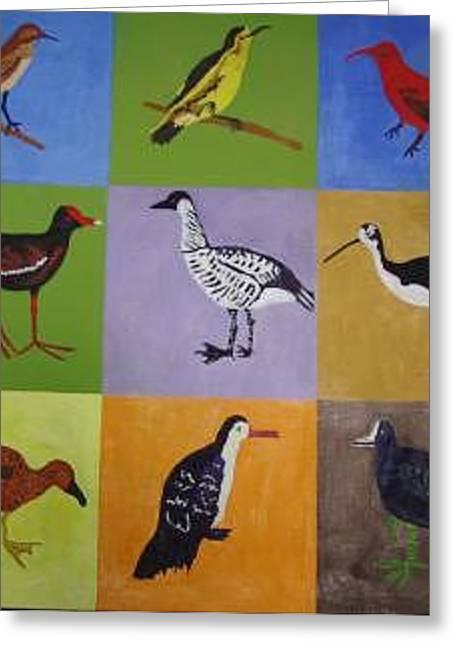 Big Island Endangered Birds Greeting Card by Patrice Tullai