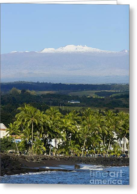 Big Island, Hilo Bay Greeting Card by Ron Dahlquist - Printscapes