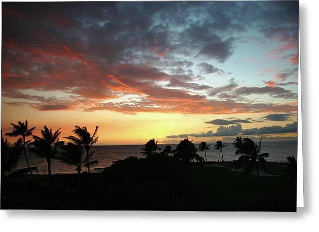 Greeting Card featuring the photograph Big Island Sunset #2 by Anthony Jones
