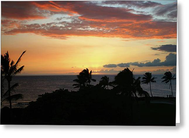 Greeting Card featuring the photograph Big Island Sunset by Anthony Jones