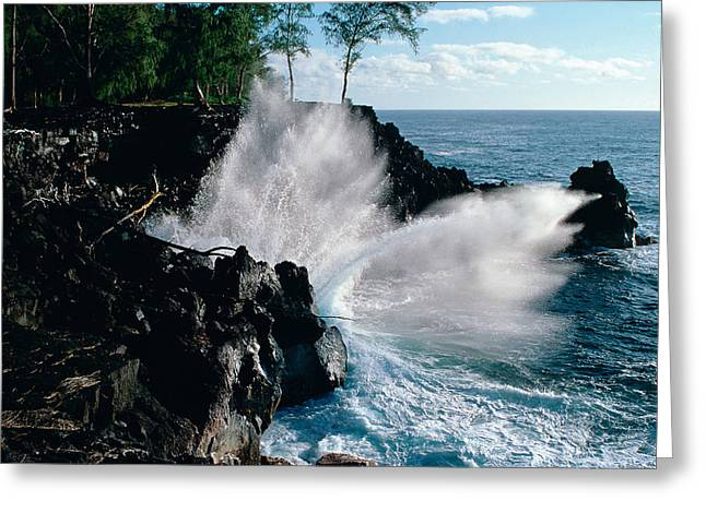 Big Island Waves Greeting Card by Gary Cloud