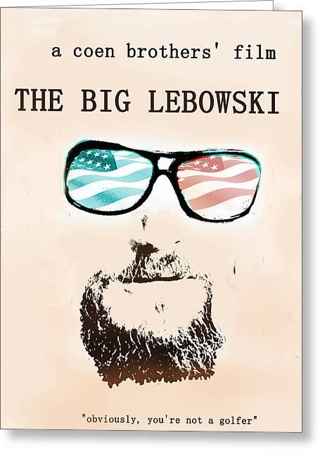 Big Lebowski Movie Poster Greeting Card by Enki Art