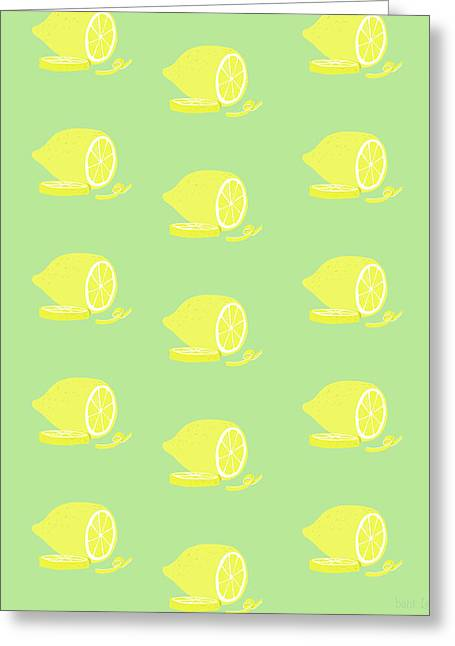 Big Lemon Flavor Greeting Card by Little Bunny Sunshine