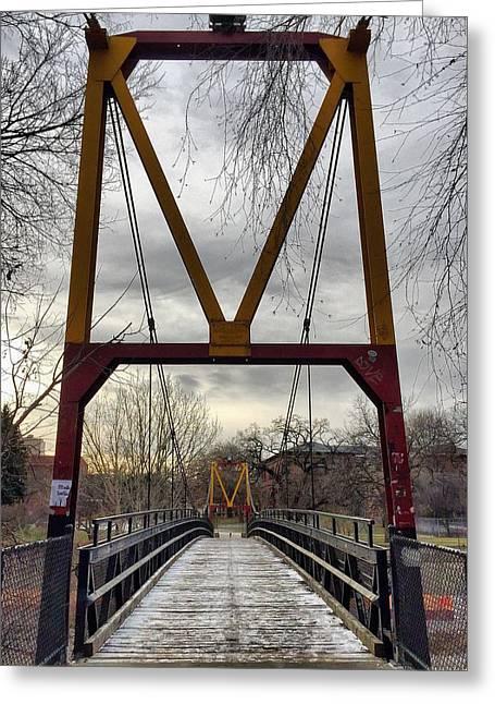 Big M Bridge Greeting Card