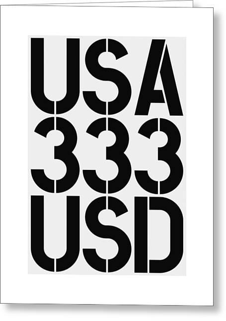 Big Money 333 Usd Greeting Card
