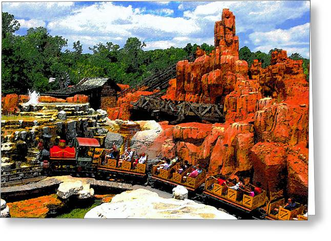Theme Parks Greeting Cards - Big Mountain R R Greeting Card by David Lee Thompson