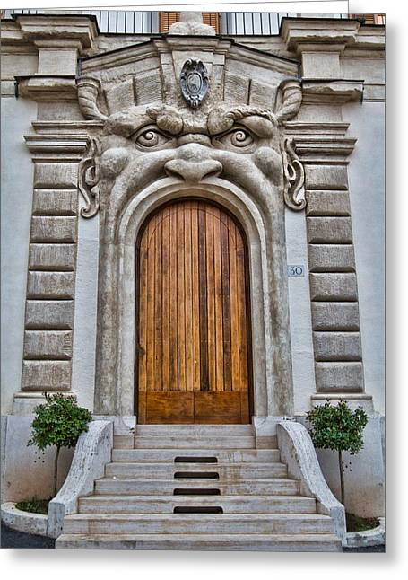 Greeting Card featuring the photograph Big Mouth Door by Kim Wilson