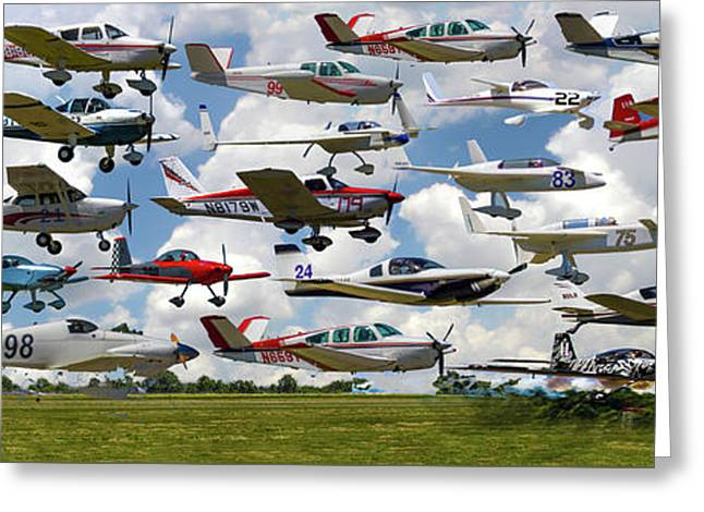 Big Muddy Fly-by Collage Greeting Card