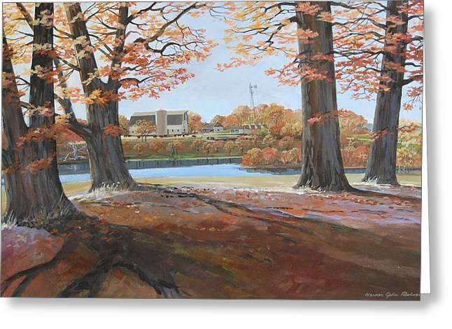 Big Oaks In Fall Greeting Card by Werner Pipkorn