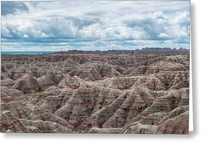 Big Overlook Badlands National Park  Greeting Card