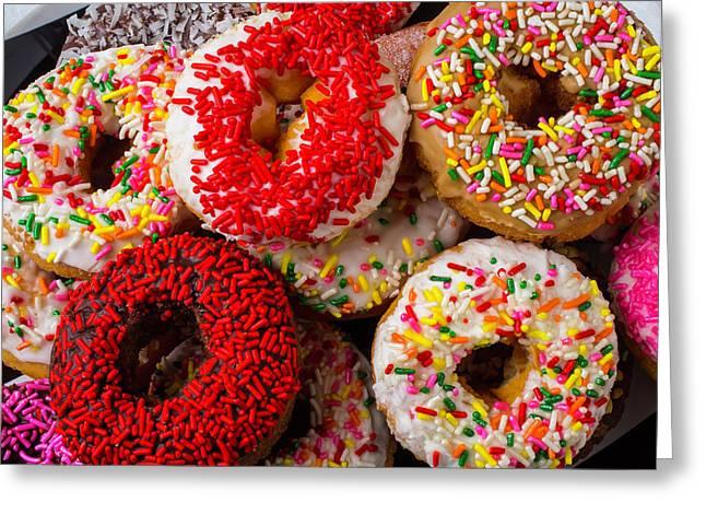 Big Pile Of Donuts Greeting Card