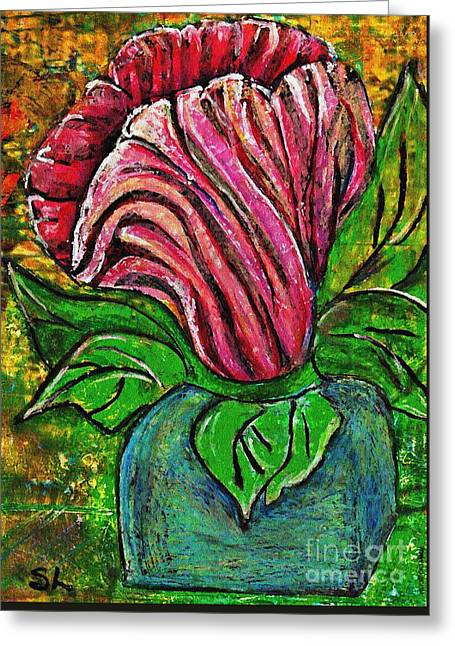 Big Pink Flower Greeting Card
