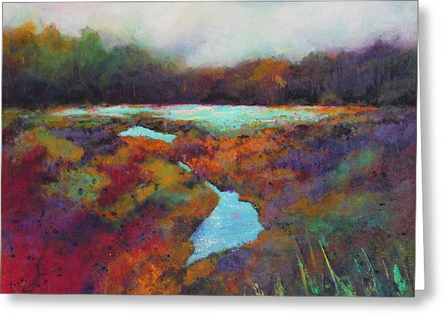 Big Pond In Fall Mc Cormick Woods Greeting Card by Marti Green