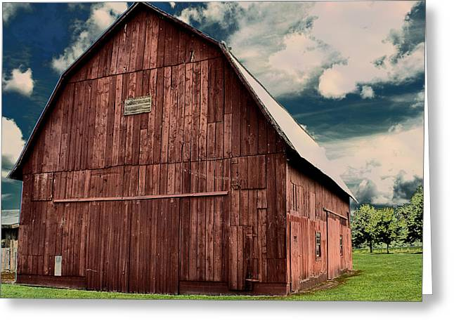 Big Red Barn Greeting Card by Deena Stoddard
