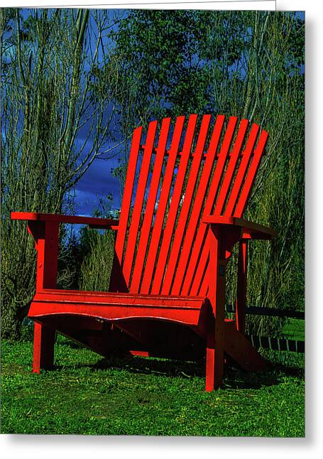 Big Red Chair Greeting Card by Garry Gay