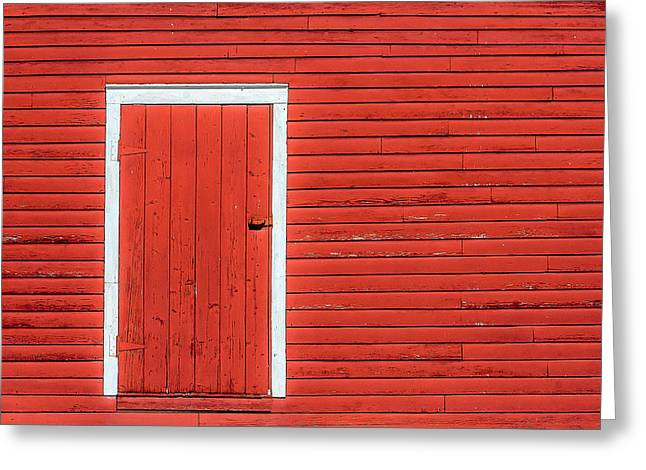 Big Red Door Greeting Card